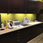 Amazing Smiles dental office building wash up area