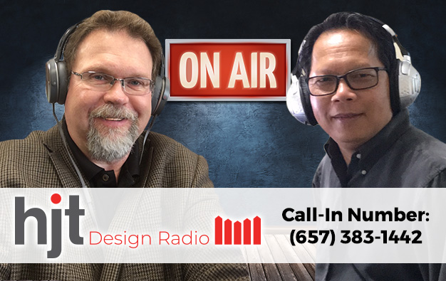 Hosts of HJT Design Radio, HanH Tran and Jim Jarvis