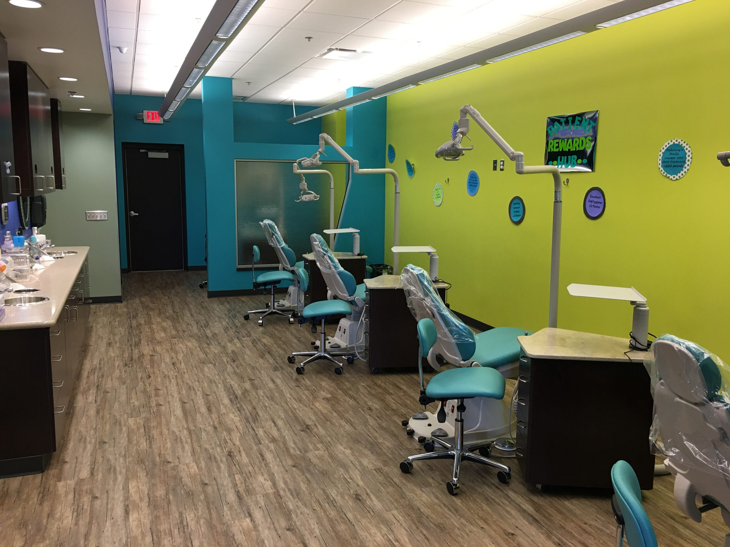 Open dental treatment rooms