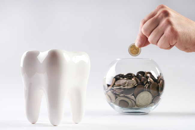 saving coins for dental office expansion