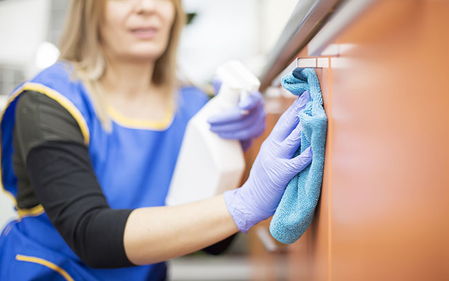 cleaning dental office for infection control