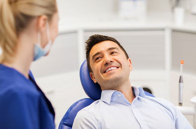 patient happy with dental office expansion
