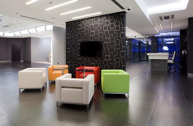 Feng Shui Design Inspired Dental Office waiting area