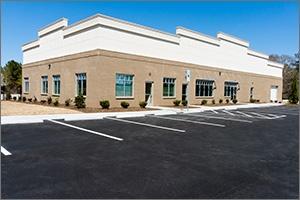 well sized dental office parking lot