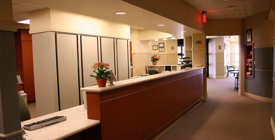 remodeled Dental Office waiting room